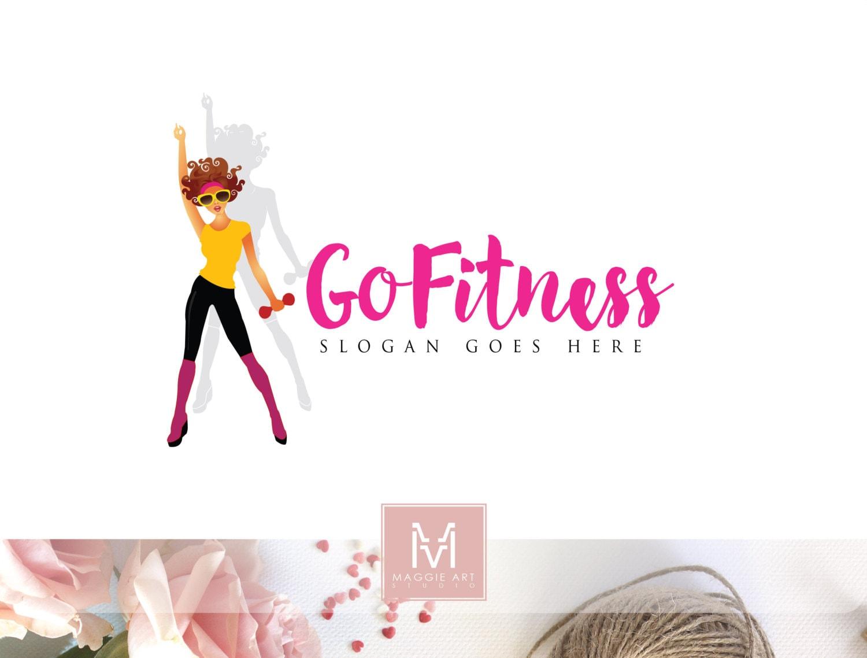 Fitness Logo Design Girl Sport Fashion