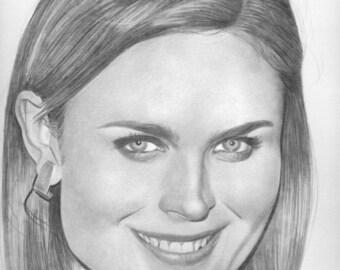 Emily Deschanel Original  Drawing