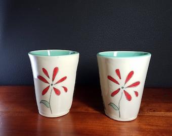 Porcelain tumblers, a pair