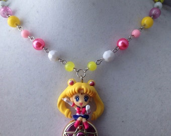 Sailor Moon // Transformation Compact // Twinkle Dolly // Beaded Necklace