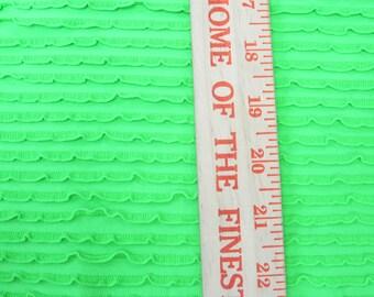 Amazing Brighter Lime Green Ruffle Fabric Nylon Spandex Knit Fabric Swim Gym Pageant