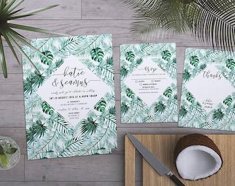 Destination Wedding | Tropical Wedding | Wedding Suite | Beach Wedding | Island Wedding | Custom Wedding | Palms | Printable | Custom | DIY