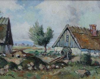 Framed Original Fine Art Landscape Oil Painting by Listed Artist Carl Månsson Sweden