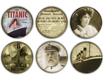 "Titanic Large 2.25"" Magnet Set"
