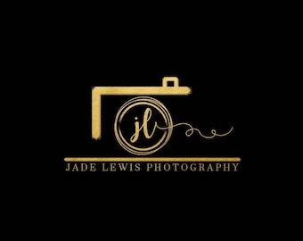 Premade logo, logo design, photography Logo, watermark, Camera logo, photographer, gold logo, logo with camera, black, branding,