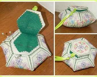 NeedlePinHexie - embroidery pattern