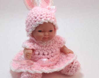 5 inch Doll clothes,Ready to Ship,Bunny Dress Set,5 inch doll outfits,Included is Dress,hat and shoes,Bunny Outfit,