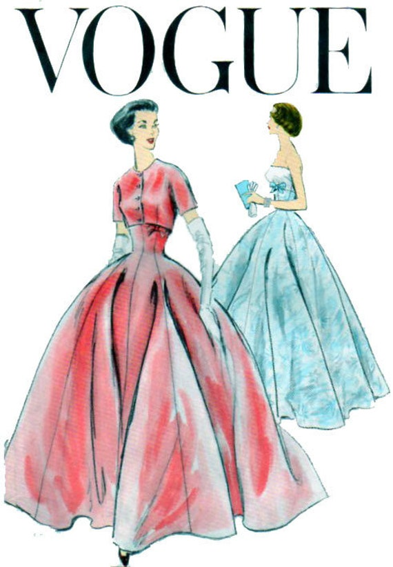 VOGUE 9034, Wedding Gown, Evening Gown, Sewing Pattern, Strapless ...