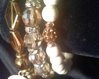 Neutral Tones Bracelets Set/ or individual.