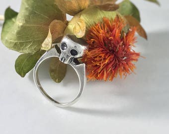 Custom Memorial Jewelry, Cremation Jewelry, Victorian Ring, Sterling Silver Pet Ashes Jewelry