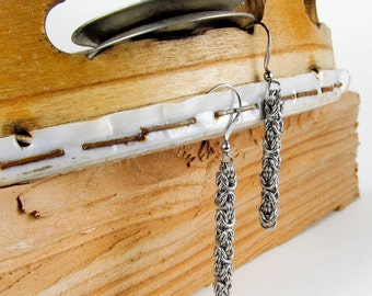 Long Byzantine - Chainmaille Earrings