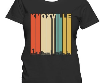 Vintage 1970's Style Knoxville Tennessee Skyline Women's T-Shirt