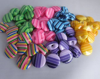 Striped Smartie Buttons