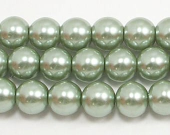 8mm Sage Glass Pearls Trial Size Packs