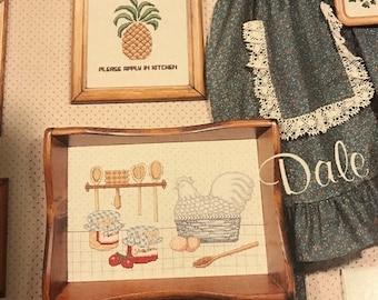 APRILSALE Dale Burdett Make Mine a Country Kitchen counted cross stitch design booklet