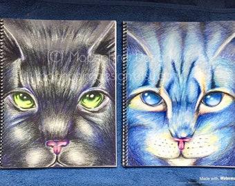 Warriors Cats Notebook / Sketchbook / Journal Hollyleaf Lionblaze Jayfeather Book Christmas Holiday Gift School