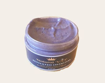Activated Charcoal Face Mask -  Oily Skin Mask. Great to detox face and for acne treatment.