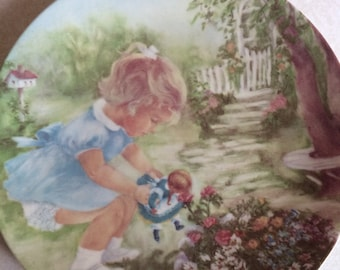 Stop And Smell The Roses Decorator Plate Seems Like Yesterday Series