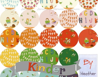 Fat quarter bundle of Kinder by Heather Ross for Windham fabrics- 23 pieces