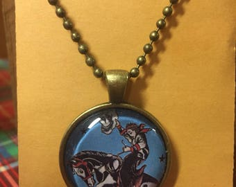 Cowgirl and Horse Necklace