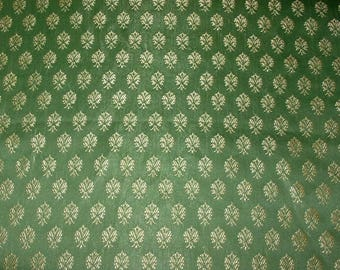 silky vintage Indian print fabric