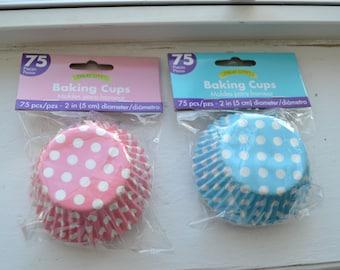 75 Pink OR Blur Polka Dot Standard Cupcake Liners