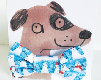 Christmas Snowman Dog Bowtie Gift Set - Hipster Hounds