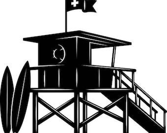 lifeguard clip art etsy rh etsy com