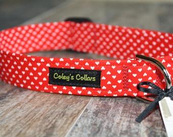 "Valentine Dog Collar, Dog Collar, Girl Dog Collar, Boy Dog Collar, Spring Dog Collar, Heart Dog Collar ""Tiny Hearts"""