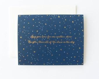 Beautiful Wedding Card, Love Card, Pretty Wedding Card, Stars in the Sky Card, Happy Anniversary Card, LGBT Wedding Card, LGBTQ Wedding Card