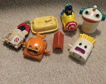 1980s Vintage Mcdonalds toys