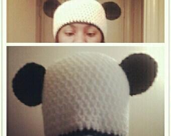 Happy Panda Hat - ready to ship