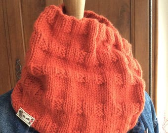 Snood wool orange