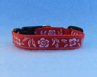 Tropical Flower XS Dog Collar