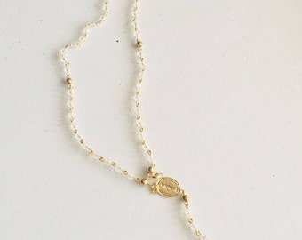 Gold Plated Crystal Rosary