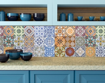 Set of 24 Tiles Decals Tiles Stickers mixed Tiles for walls