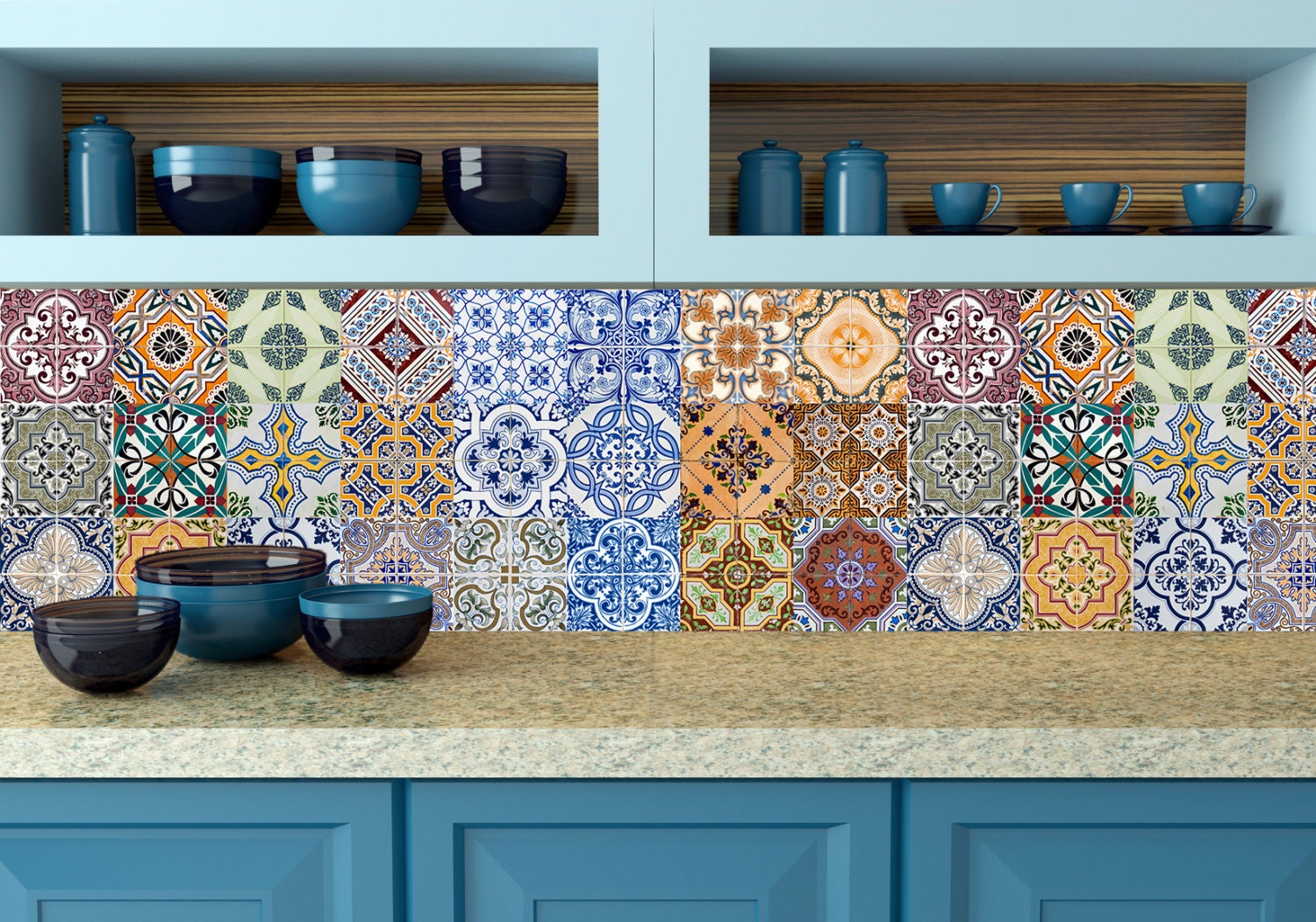 Stickers Credence Cuisine Interesting Awesome Mosaique Pour Cuisine