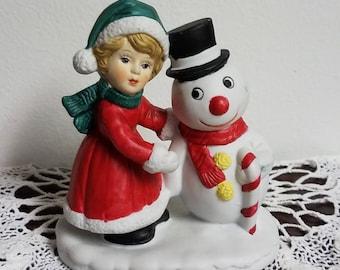 Vintage Brinns Christmas Frosty the Snowman Figurine