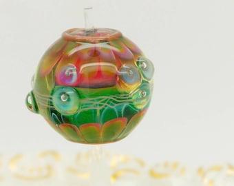 Abstract Layers Lampwork Bead Focal Handmade Glass Art