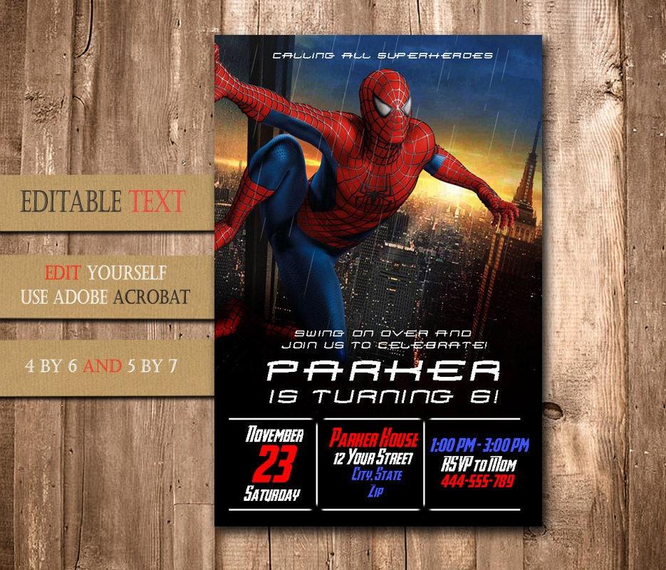 Spiderman invitationspiderman birthdayspiderman birthday zoom solutioingenieria Gallery