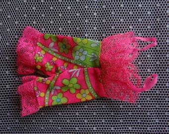 Vintage Barbie Under liners Pink Floral Incomplete set 1960's