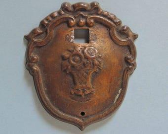 Vintage Brass Drawer Pull, Antique Brass Hardware