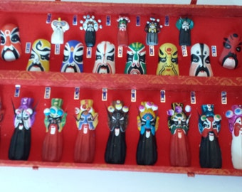 Chinese Opera Masks and Figures