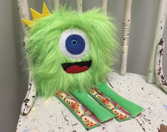 Monster Plush - Green Monster - Handmade Plush
