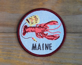 MAINE Embroidered Patch 3x3in