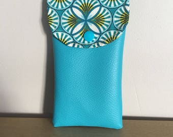 Large cell phone pouch size printed geometric