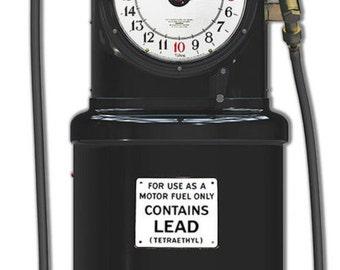 "POLLY GAS PUMP! Black Pally Gas Station Pump. Nostalgic Laser Cut 36"" X 10.5"" 18 Gauge Steel Garage Decor Sign"