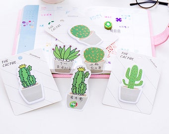 30 SHEETS, Succulent sticky notes, Succulent post its, Plant sticky notes, Cactus sticky note, Cacti sticky note, Cactus post it