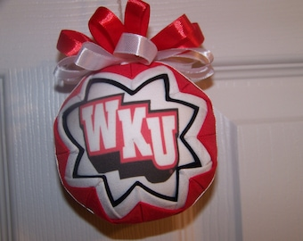 Western Kentucky University/ Hilltoppers Quilted Ornament
