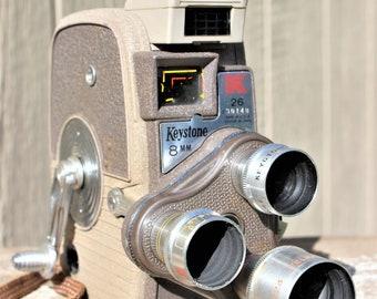 Vintage 1950's Keystone K-26 8mm Movie Camera